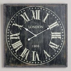 Black Bailey Wall Clock at Cost Plus World Market-  i want