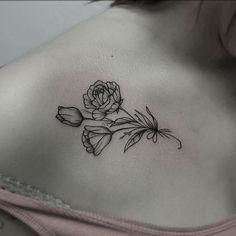 Rose Collar Bone Tattoo