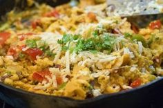 Migas recipe - egg dish from Pioneer Woman Ree Drummond, Breakfast Dishes, Breakfast Recipes, Breakfast Cooking, Breakfast Ideas, Mexican Breakfast, Mexican Brunch, Breakfast Skillet, Brunch Recipes