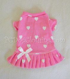 Pink Hearts T-Shirt Dress