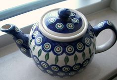 There's few pieces of the dark blue Polish pottery that we don't have, but this is one of them! Must Find It!!