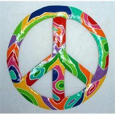 Tropical Psychodelic Peace Sign Decor Haitian Metal Art Hippie Peace, Hippie Love, Hippie Chick, Peace Sign Art, Peace Signs, Peace Love And Understanding, Peace Pole, Give Peace A Chance, Metal Art