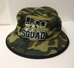 ea8633b3da0 Cartoon Bucket Hat 90s Kid New RARE Camo Camoflauge Hey Arnold