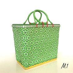 Paniers tressés multicolores - Taille M - 12 coloris disponibles