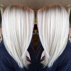 Platinum White Blonde Balayage - Straight Shoulder Length Haircut Summer Hairstyles, Platinum White Blonde Balayage - Straight Shoulder Length Haircut 2017 Source by friedaevelyne. Balayage Straight, Lob Haircut, Lob Hairstyle, Haircut 2017, Hair Styles 2016, Curly Hair Styles, Curly Lob, Platinum Blonde Hair Color, Platinum Blonde Highlights