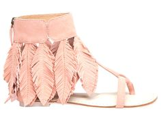 Suede Fringed Feather Ankle Cuff Sandals with back zipper. Cute Sandals, Cute Shoes, Me Too Shoes, Boho Sandals, Boho Fashion, Fashion Shoes, Fashion Accessories, Fashion Trends, Shoe Boots