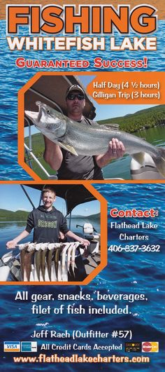 Fishing on Whitefish Lake is nothing short of AWESOME! Guaranteed Success! Filet Of Fish, Brochure Online, Flathead Lake, Local Activities, Whitefish, Brochures, Fishing, Success, Tours