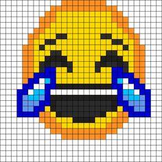 Laughing Emoji Perler Bead Pattern