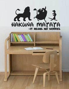 HAKUNA MATATA Lion King Quote - Simba Timon Pumbaa Disney Wall Art Decal Sticker in Home, Furniture & DIY, Home Decor, Wall Decals & Stickers   eBay