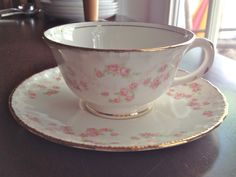 Vintage+P&G+Co.+Pope+Gosser+Cup+and+Saucer+in+the+by+AryaRoseFinds,+$12.00