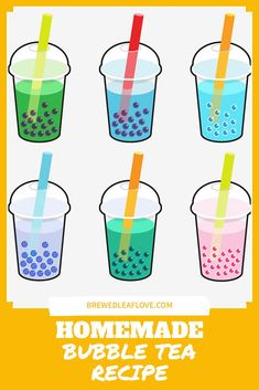Bubble Tea How To Make Boba Tea At Home – Brewed Leaf Love Did you know you can make your own yummy bubble tea from this easy DIY recipe at home? Here's how to make homemade boba tea just like the tea shops. You can even add different flavors if you want! Milk Tea Recipes, Iced Tea Recipes, How To Make Boba, How To Make Homemade, Boba Recipe, Bubble Tea Flavors, Pearl Tea, Southern Sweet Tea, Homemade Bubbles