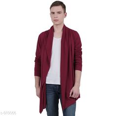 Shrugs Fashionable Men's Cotton Solid Shrug Fabric: Cotton  Sleeves: Full Sleeves Are Included Size: S, M, L, XL, XXL  (Refer Size Chart ) Length: (Refer Size Chart ) Type: Stitched Fit: Slim  Description: It Has 1 Piece of Men's Shrug Pattern: Solid Sizes Available: S, M, L, XL, XXL *Proof of Safe Delivery! Click to know on Safety Standards of Delivery Partners- https://ltl.sh/y_nZrAV3  Catalog Rating: ★4 (5170)  Catalog Name: Men's Smarty Cotton Solid Shrug Vol 5 CatalogID_106842 C70-SC1469 Code: 233-910066-