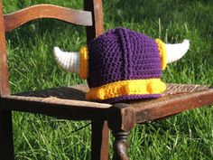 MADE to ORDER - Minnesota Vikings Helmet Crochet Hat for Baby, Child or Adult by TinctureCraft on Etsy https://www.etsy.com/listing/252804869/made-to-order-minnesota-vikings-helmet