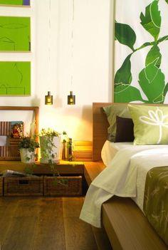 Bianco e verde sulle pareti