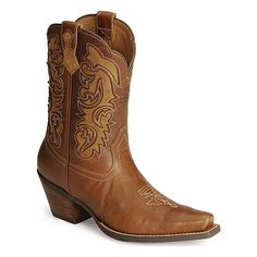 947f54c30959d Ariat Women s Shada Short Caramel Cowboy Boots - Snip Toe ( 180) ❤ liked on