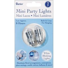 White Non-Blinking Balloon Lights | 2pc for $2.60 in Balloons - Decorations