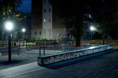 Public bench / garden / contemporary / concrete - GLASSCONCRETE BENCH - IVANKA