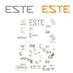 http://www.corner.com.ua/portfolio/graphic_design/firmeniy_stil/este_logo, дизайн, студия, корнер, corner, интерьер, стиль, квартира, дом, комфорт, уют, фантастика, мотивы, Гауди, яркость, тепло, скандинавский стиль, единство, цельность, солнце, детская комната, спальня, тинейджер, мадагаскар, украина, одесса
