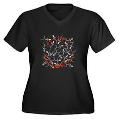 Cross Women's Plus Size V-Neck Dark T-Shirt by Designs_by_Alondra - CafePress Llamas With Hats, Magic Garden, Create Shirts, Thinking Day, Plus Size T Shirts, Archery, V Neck T Shirt, Shirt Hair, Shirt Designs