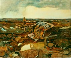 """"""" - Frederick Varley - Oil on canvas [[MORE]] Fred Varley was a member of the Group of Seven, a well known group of Canadian painters. I found this in a collection of Canadian war art,. Group Of Seven Artists, Group Of Seven Paintings, Canadian Painters, Canadian Artists, English Artists, World War One, First World, Ww1 Art, Art Programs"""