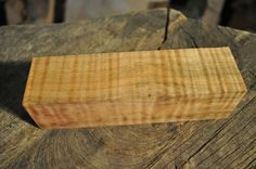 """Maple Hunting Call/Fiddleback/ Knife Handles  6"""" x 1.625"""" x 1.625"""" Woodworking"""
