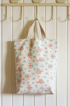 Japanese Shabby Chic Cotton Linen Blended Double Sides Magazine Tote, handmade
