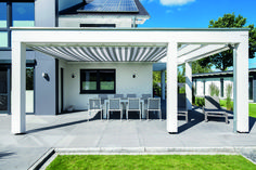 Carport, Vordach, Terrasse oder Gartenhaus Timber Roof, Getaway Cabins, Pool Decks, Pergola Designs, Simple Colors, Decoration, Backyard, Exterior, Outdoor Structures