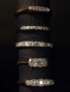 Vintage diamond bands (1920s-1960s)
