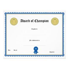 blank award certificate templates certificates certificate