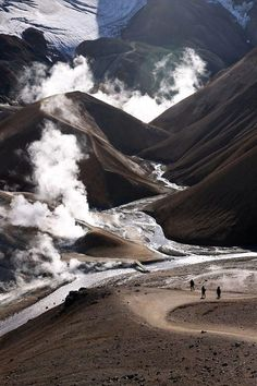Valley in the Kerlingarfjoll area with geothermal activity. Iceland
