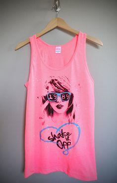 Shake It Off / Taylor Swift 1989 Unisex Tank Top by lovejonny