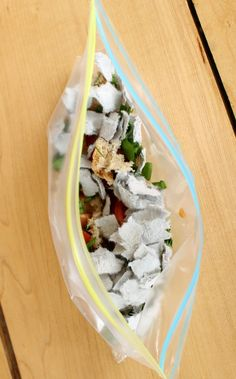 Make a sandwich bag compost! Such a cool science experiment for kids! Love how quickly the food decomposes with this one - perfect for preschoolers.