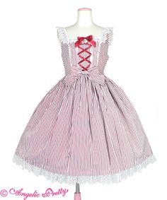 Fancy Stripe JSK by Angelic Pretty Angelic Pretty, Victorian, Fancy, Dresses, Style, Fashion, Vestidos, Swag, Moda