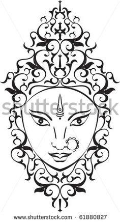 durga on pinterest goddess tattoo goddesses and hindus. Black Bedroom Furniture Sets. Home Design Ideas