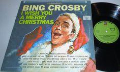 BING CROSBY MERRY CHRISTMAS VINYL LP ALBUM DECCA RECORDS SILVER BLACK LABEL  VG+
