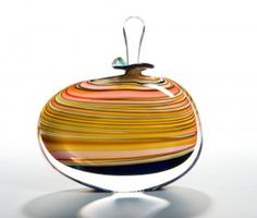 PETER LAYTON, London Glassblowing - Smoothly perfect, like a drop of water that's caught the colour of light...beautiful