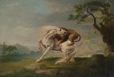 George Stubbs - A lion attacking a horse - 1765