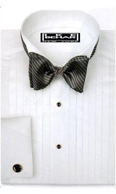 Tuxedo Shirt - 100\% Cotton, 1/2 inch Pleat