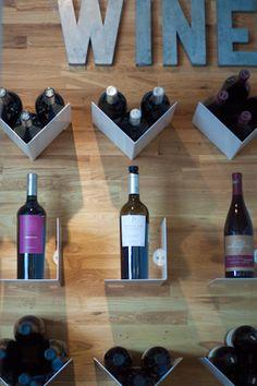 storage idea for bottles, or perhaps mason jars of kitchen ingredients?