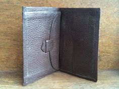 Vintage English Dark Brown Textured Leather Wallet Purchase in store here http://www.europeanvintageemporium.com/product/vintage-english-dark-brown-textured-leather-wallet/