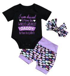Daddy Is Killin It Baby Girl Summer Set