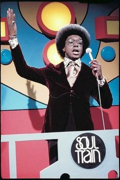 Don Cornelius hosting Soul Train.