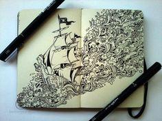 Espectaculares dibujos hechos en libretas Moleskine