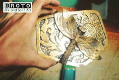 Head belt | Dragonfly | bronze | carving | evafoam | steampunk props.