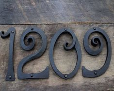 Hand forged iron house numbers Metal Projects, Welding Projects, Welding Art, Wood Router, Wood Lathe, Cnc Router, Plasma Cutter Art, Horseshoe Crafts, Horseshoe Art