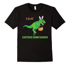 Amazon.com: Funny Easter Dinosaur Bunnysaurus T-Shirt: Clothing Easterus Bunnysaurus Rawr! Cute Dino Bunny Ears Basket Graphic Tee Shirt  Kid's Sizes and Adults Perfect Gift Tshirt