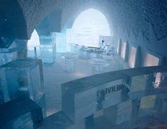 Bar da Absolut, cada móvel, cada copo, cada detalhe, tudo aqui é de gelo, tudo efêmero.