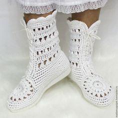 Обувь ручной работы. Сапожки хлопковые