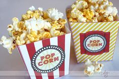 Free download- popcorn boxes for movie night