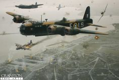 MacRobert's Reply by Ivan Berryman - Short Stirling MacRobert's Reply of… Ww2 Pictures, Aircraft Pictures, Ww2 Aircraft, Military Aircraft, Military Flights, War Thunder, Airplane Art, Ww2 Planes, Battle Of Britain
